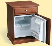 Bedside cabinet with built-in fridge