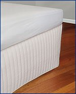 Bed base valance